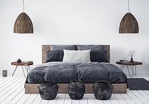 Tipi postelj: lesena, oblazinjena, boxspring